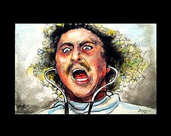 """Print 11x17"""" - Its Alive - Young Frankenstein Peter Boyle Gene Wilder Monster Creature Classic Spooky Gothic Halloween Pop Mustache Doctor"""