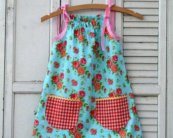 Instant Download The Junebug Sun Dress PDF Sewing Pattern DIY Tutorial Little Bird Lane Size 12 Mo to Size 7-8