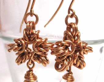 Snow and Ice Chainmaille Earring Tutorial -Star and Bracelet instructions included!