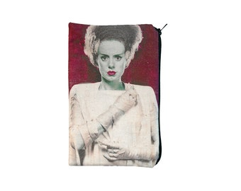 Bride of Frankenstein Makeup Bag / Pencil Pouch - Horror Classic Monster