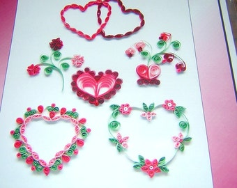 NOTHING But HEARTS Quilling kit PAPLIN Brand New
