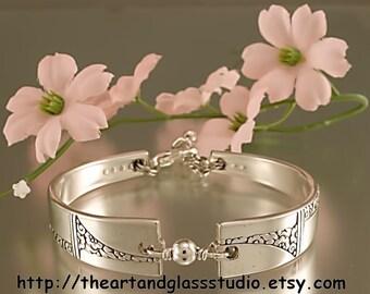 Silver Spoon Bracelet CAPRICE Jewelry Vintage, Silverware, Gift, Anniversary, Wedding, Birthday