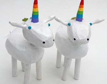 Unicorn Wedding Cake Toppers | Lesbian Wedding Cake Toppers | Gay Wedding Cake Toppers | Custom Wedding Cake Toppers | Forest Cake Topper