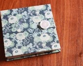 Blue Floral Journal with Button Closure