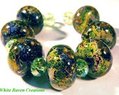 Earth Meets Space Lampwork Beads