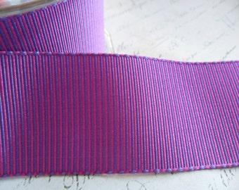 Violet Satin Grosgrain Ribbon 1.5 wide ribbon