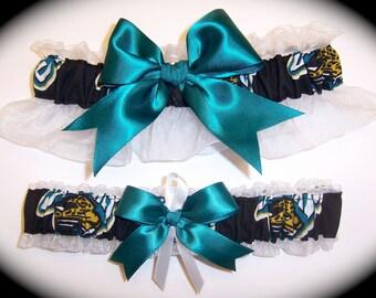 Jacksonville Jaguars Wedding Garter Set   Handmade   Keepsake and Toss Bridal jw1
