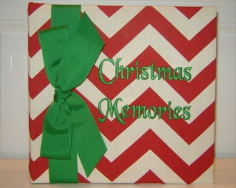 Christmas Memories in Red Chevron