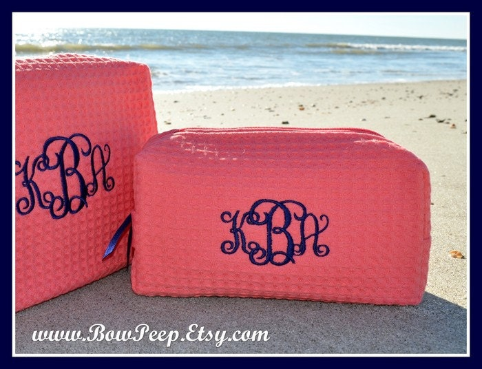 Small Size Monogrammed Cosmetic Bag By Somethingyougifts