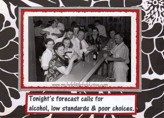 Tonights Forecast Funny Greeting Card