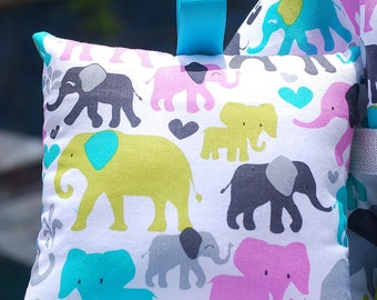 Shopping Cart Cover for Girls- Boutique Shopping Cart Cover- Orchid Elephants
