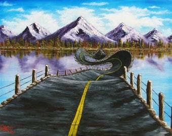 LIFE ROAD-  original oil
