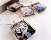 Custom Image Photo Wine Charm Party Favor Charms l Custom Image and Picture l Kids, Babies, Weddings, Bride Groom, Pets l Mother's Day