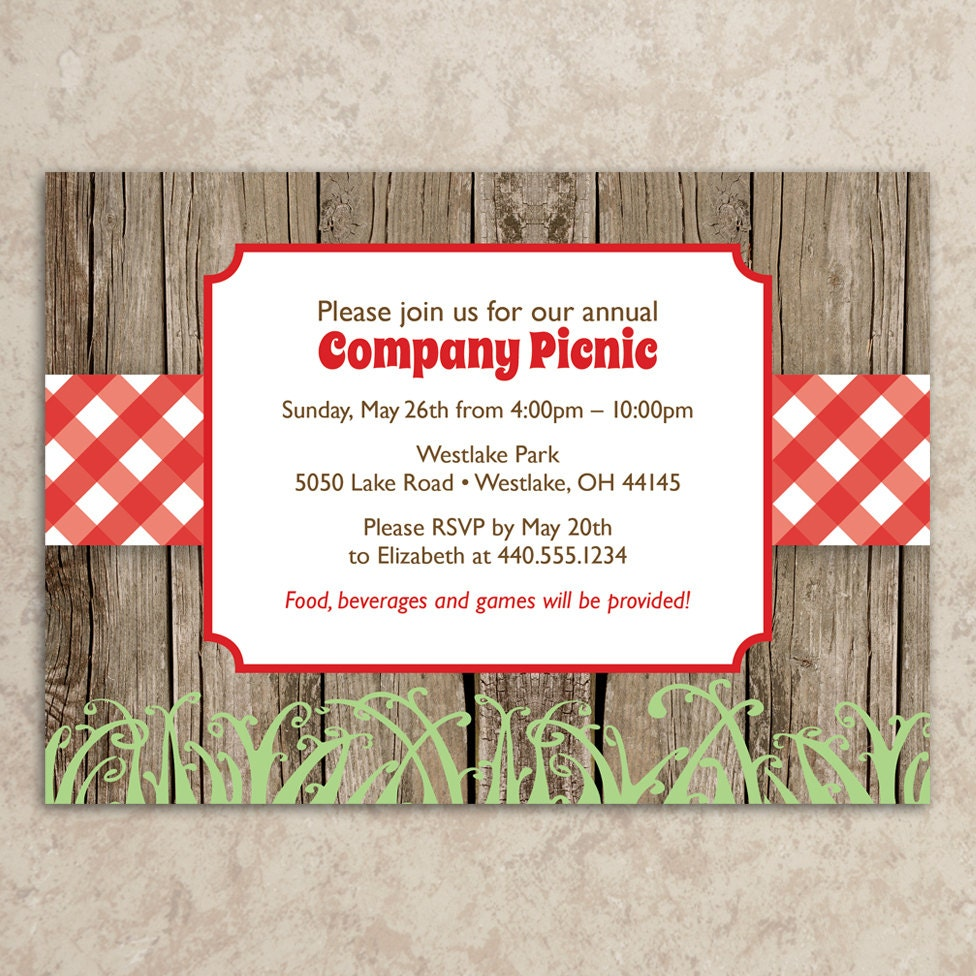 Nice Company Bbq Invitation And Company Party Invitation Templates