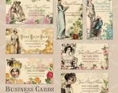 Vintage Regency Era Jane Bennet and Sisters Business Cards By VINTAGE BELLA Professionally Printed Jane Austen