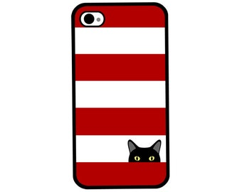 Phone Case - Sneaky Black Kitty Cat - Hard Case for iPhone 4, 4s, 5, 5s, 5c, 6, 6 Plus - iPod Touch 4, 5 - Galaxy S3, S4, S5
