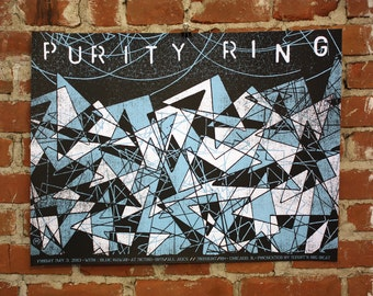 Purity Ring- Chicago- Official Hand-Printed Gigposter