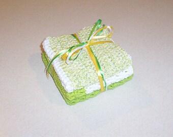 Hand Crochet Springtime Cotton dishcloth Set