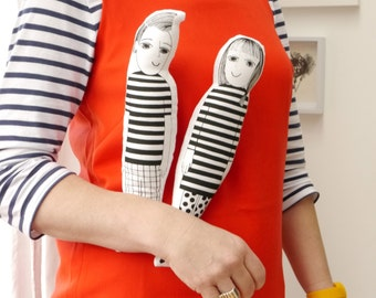 Make your own screen printed fabric retro dolls by Jane Foster Morris and  - Mandy Morrissey fans