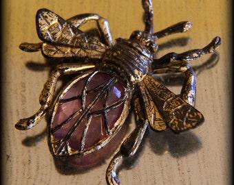 Fantastic Vintage Plastic Bee Brooch