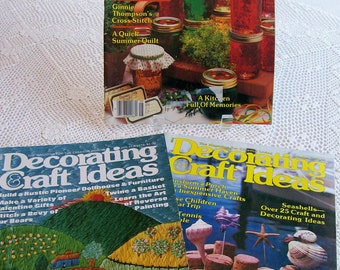 Magazines 'Decorating Craft Ideas' 1970s 1980s How-to Crafting Sewing Cooking