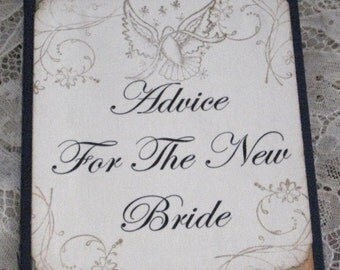 Journal Moleskine ruled Notebook Advice For The New Bride with Bird .......... Lot D
