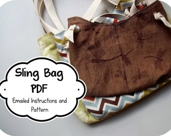 McIntosh Sling Bag Tutorial PDF Instructions - - 3 Bag Sizes - - Color Photos - - Printable Pattern - - Emailed within 24 hours