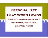 Personalized Clay Word Beads, Name Beads, Handmade Beads, Wholesale Jewelry Supplies