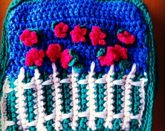 Tea cozy bright crochet