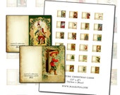 Miniature Dollhouse Christmas Cards 1:12 scale happy holidays for your dolls 1/12 scale