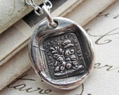 wax seal jewelry your sweetness is my life - butterfly - antique french wax seal in fine silver