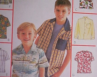 McCalls Pattern 2146 Boys Shirt sz M L XL