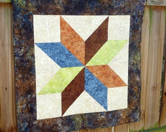 Batik quilt table topper throw wall hanging lap quilt