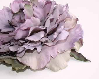Large Peony in Lavender Gray - 6 Inches -Artificial Flower, Millinery Flower - ITEM 0394