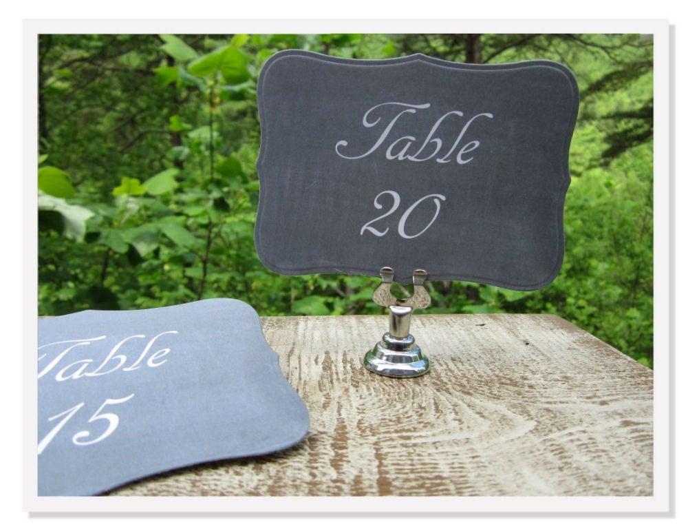 Wedding Chalkboard Table Numbers Blackboard Table Numbers