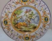 Italian Tin Glazed Hand Painted FAIENCE Majolica Charger A. MOLLICA