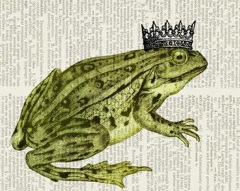 Frog Prince dictionary page print