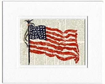 Flag US print