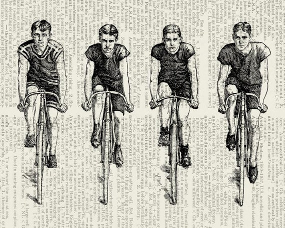 riding Bikes dictionary page print