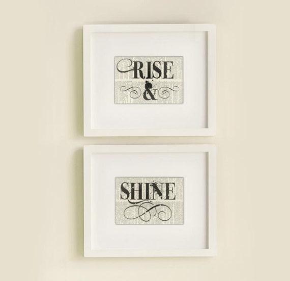 Rise & Shine book page prints
