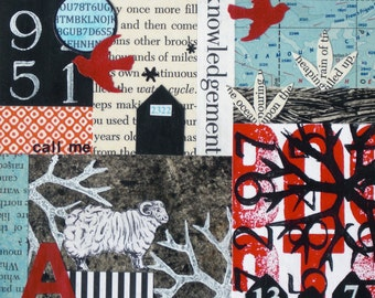 Original Mixed Media Abstract Collage Art - Acknowledgement