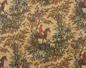 Ralph Lauren Equestrian Hunt Themed Print Cotton Twill Fabric