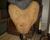 Primitive Heart Makedo  Simplify  Fabric Bird