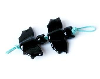 Bat Beads Earring pair