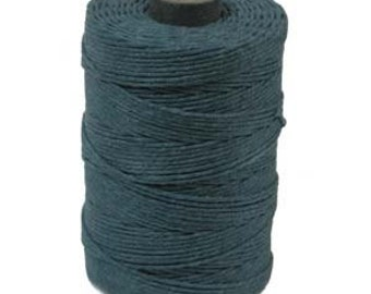 Irish Waxed Linen Thread Crawford Cord 4 Ply 1 Spool (100 Yards) TEAL 420023