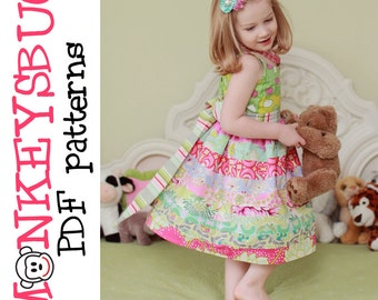 Ruby Ribbon Twirl Dress PDF eBook Pattern INSTANT DOWNLOAD