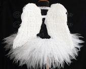 "Angel Tutu Costume - 13"" Tutu and Angel Wings - For Girls, Pre-Teens, Teens - Valentine's Day"