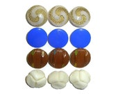 Antique Glass Buttons x12...