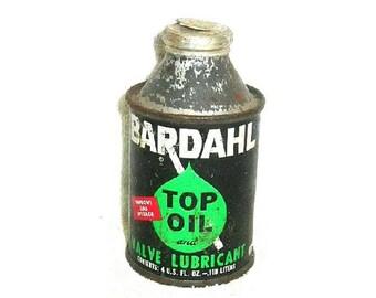 Vintage Bardahl Top Oil Valve Lubricant Unopened Automotive Memorabilia