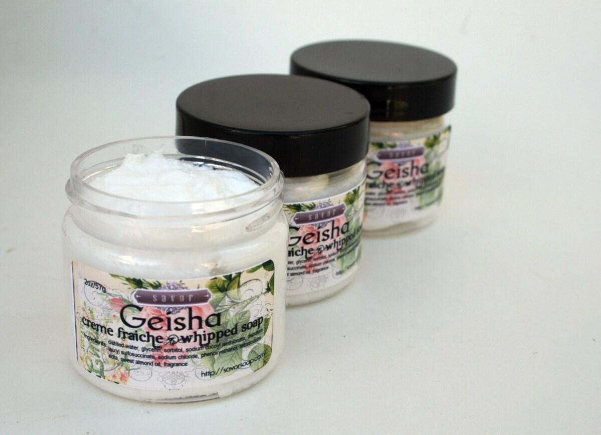 whipped soap geisha 2 oz mini creme fraiche vegan. Black Bedroom Furniture Sets. Home Design Ideas